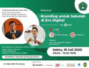 Unjani Adakan Webinar ''Branding untuk Sekolah di Era Digital'' Dukung Sekolah Majukan Merek