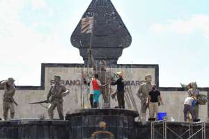 Jelang HUT ke-75 RI, Monumen SO 1 Maret Dibersihkan