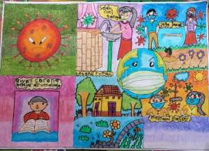 Pesta Gambar, Kisah Pandemi Covid 19 dalam Gambar Anak