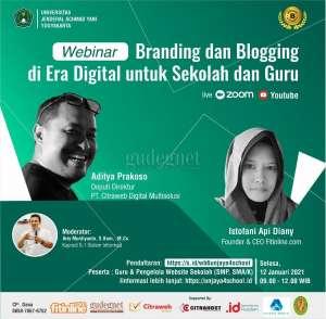 Besok, Unjani Gelar Webinar Branding dan Blogging di Era Digital untuk Sekolah